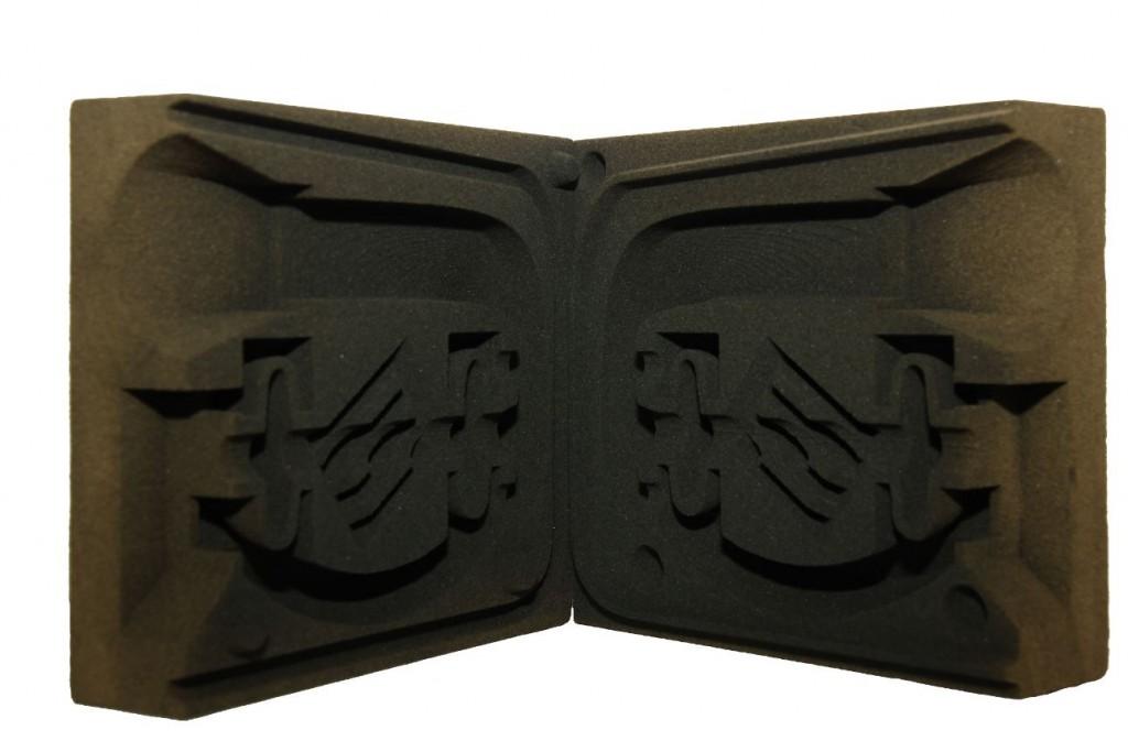 Form aus Quarzsand erstellt im 3D Druck