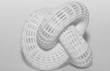 Gordischer Knoten aus dem 3D Drucker in weiss