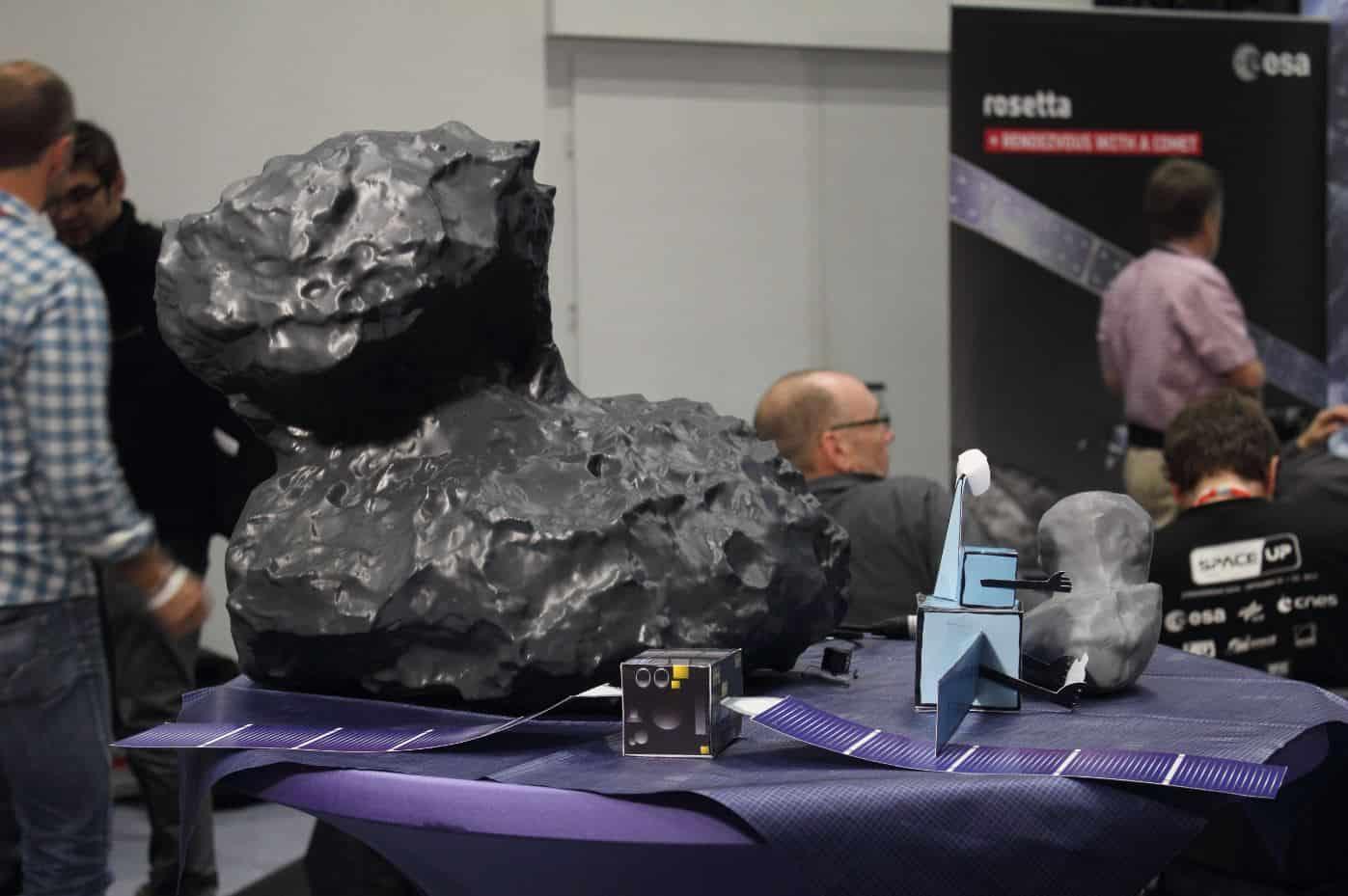 3D-Druck-Kometenmodell-Ansicht