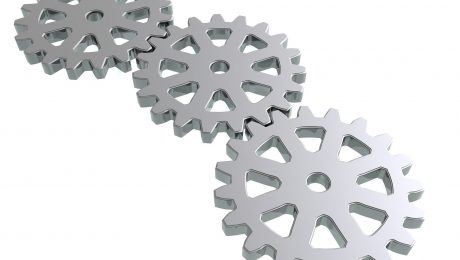 Zahnrad-3D-Druck-Symbolbild