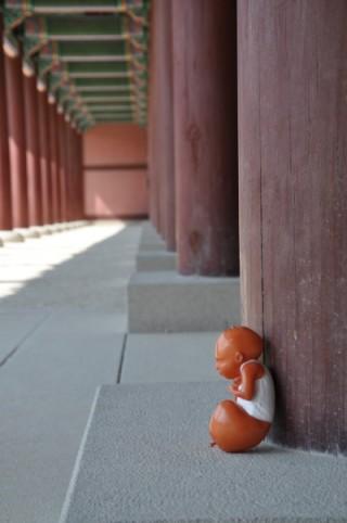 3D-Druck-Kunst-in-Seouler-Tempel