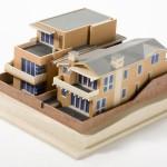 Häuser 3D Druck im Modell