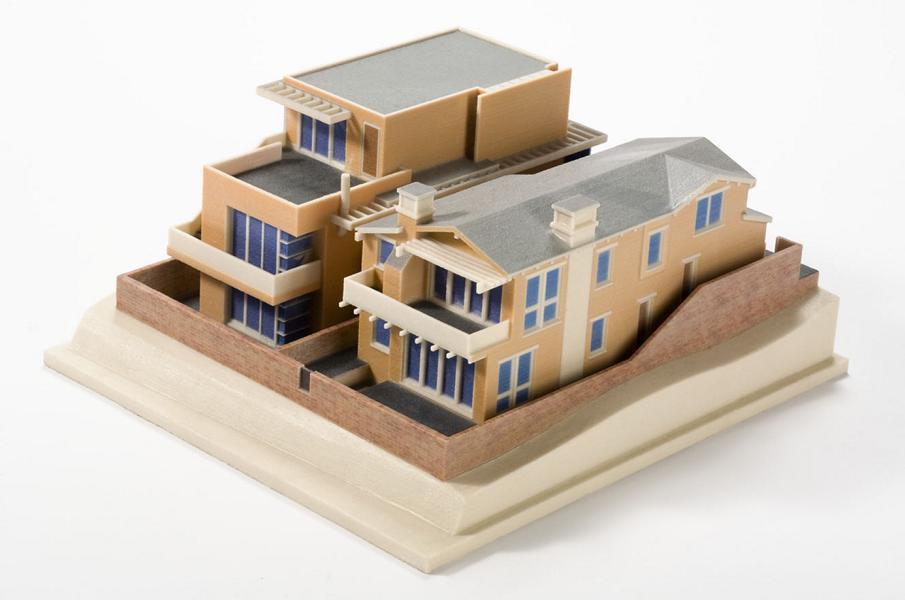 Villa Als Modell Für Häuser 3D Druck