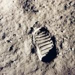 Fußabdruck-Mond-3D-Druck